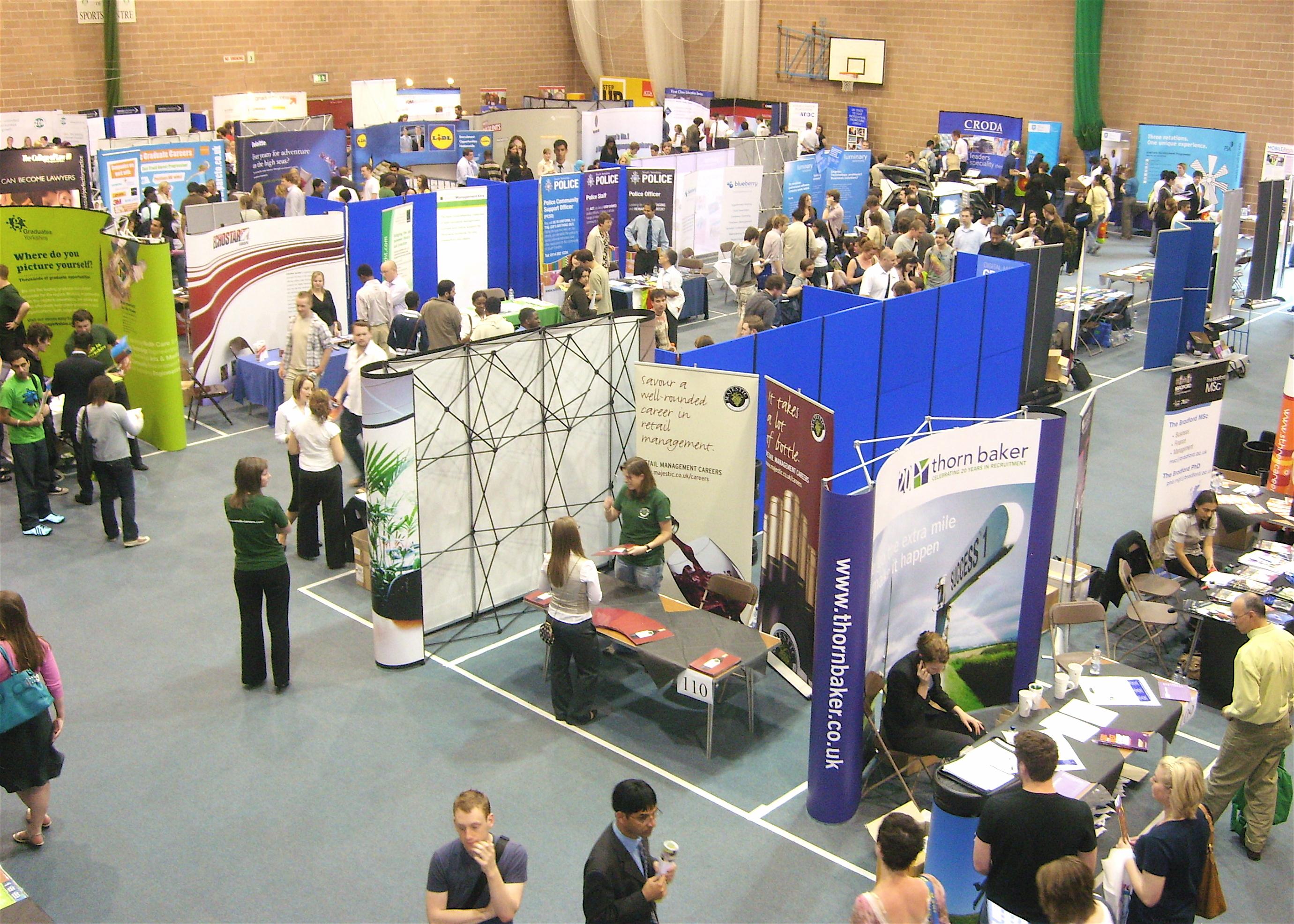 example of a jobs and internships fair