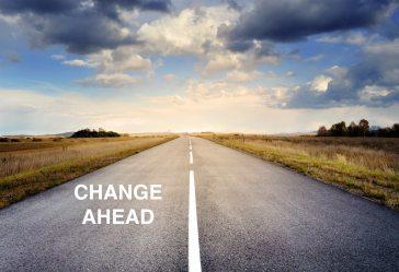 Road change ahead